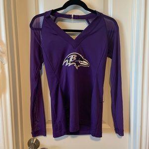 NFL Baltimore Ravens Mesh Sleeve Top